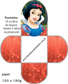 Free Printable Open Boxes for Disney Princess Party. Disney Princess Party, Princess Theme, Princess Birthday, Disney Printables, Free Printables, Box Template Printable, Indian Embroidery Designs, Snow White Birthday, Snow White Disney