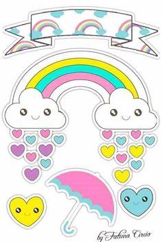 - Sirleia Adriana - Beyond Binary Twin Birthday, Unicorn Birthday Parties, Doodle Girl, Crochet Shoulder Bags, Sunshine Birthday, Unicorns And Mermaids, Baby Shawer, Unicorn Cake Topper, Cute Clipart