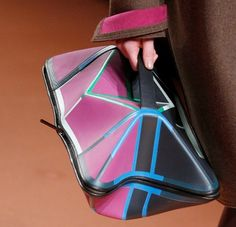 Geometric clutch bags at the ready for...