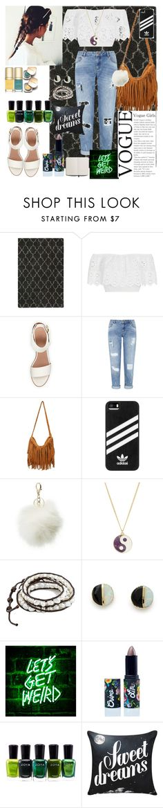 """going out"" by caputcauda ❤ liked on Polyvore featuring Nourison, Miguelina, BEA, Miss Selfridge, adidas, Charlotte Russe, Accessorize, Erica Weiner, Dolce&Gabbana and Lime Crime"