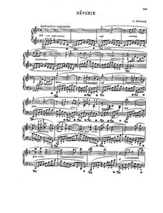 Rêverie Piano - Sheet music - Cantorion - Free sheet music, free scores