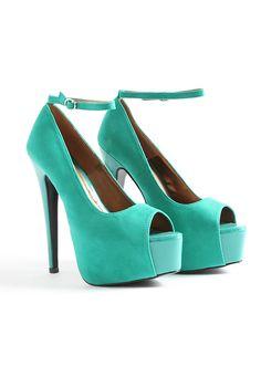 Shazet Strappy Peep Toe Platform Heels