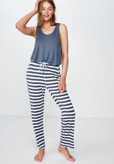 Sleep recovery relaxed pant - thick stripe/ iron Cotton On Sleepwear | Superbalist.com Sleepwear Women, Lingerie Sleepwear, Hip Bones, Body Measurements, Stripe Print, Pajama Pants, Recovery, Cotton, Iron