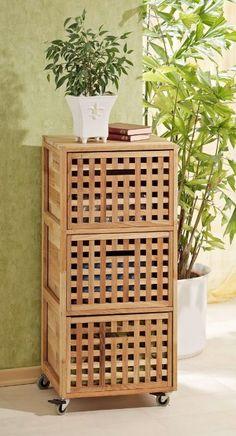 Panier linge bambou sur roulettes recherche - Panier a linge sur roulette ...