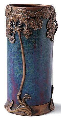 Art Nouveau - Vase Céramique - Ombelles - Pierre Adrien Dalpayrat - 1895