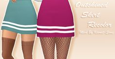 OUTSHINED SKIRT RECOLOR • - oh look at this, a first recolor i'm releasing • - it has 16 swatches!! very cool!! • - has those stripey things on the bottom • - NEEDS THE MESH • -how do you write...