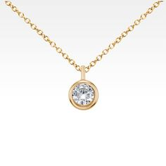 Signature floating diamond solitaire pendant in platinum 60 ct tw build your own diamond pendant setting search blue nile aloadofball