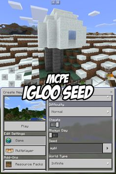 Check out this Igloo Seed for Minecraft Pocket Edition. The igloo is right up river, toward the sun, a few dozen blocks. Seed:aybl