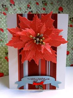poinsettia DIY Christmas Card <3 lovely!
