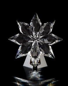 Swarovski 2013 Star on Chrome Display Swarovski Ornaments, Silver Ornaments, Swarovski Crystals, Tropical Wedding Bouquets, Star Wars, Christmas Star, Mint, Laser Engraving, Neiman Marcus