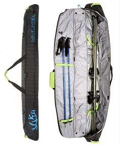 Kantaja is the fully padded wide-mouthed, lightweight ski bag for organizing alpine skis, poles and apparel. www.kulkea.com