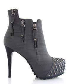 Shoe Porn! We've gotta get these! Muah! ~ Gray Concrete Jungle Platform Bootie by Fiebiger Shoes