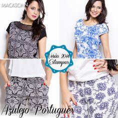 A estampa de azulejo português deixa qualquer look de verão mais elegante. Confira nossas opções!