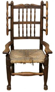 Victorian Antique Oak Spindle Back Armchair
