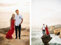 Beautiful engagement photography by Jordan Voth Photography.  I love how the red dress stands out too.