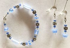 Jewelry Sets Bracelet Earrings Matching Jewelry Blue Bead