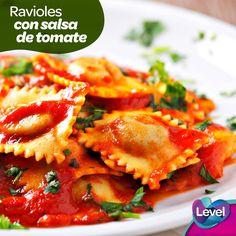 ¿Se te antoja una deliciosa pasta? Te recomendamos preparar unos ravioles con salsa de tomate.
