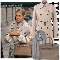 dress like Lily Van der Woodsen by mariannaxoxo on Polyvore featuring Mode, Burberry, Hermès, Franco Ferrari, hermes, dress like, gossip girl, lily van der woodsen and burberry