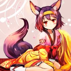 yande.re 289910 animal_ears hatsuse_izuna japanese_clothes no_game_no_life sakura_ani tail.jpg (2000×2000)