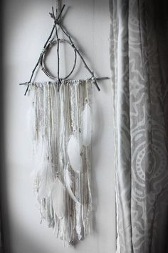 RESERVED for Ophélie. wood triangle dreamcatcher vintage laces   feathers  Harry Potter pagan witchcraft wall-hanging . eb883974b72b