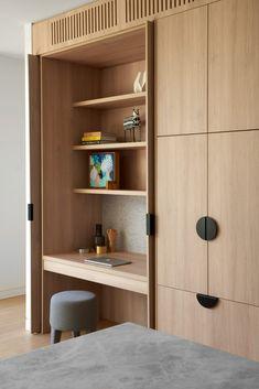 Home Office Design, Home Interior Design, Interior Architecture, House Design, Wardrobe Interior Design, Wardrobe Design Bedroom, Garderobe Design, Hillside House, Study Nook