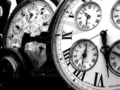 Black and White Clock by hathuyanna, via Flickr. #clocks, #photography, #time