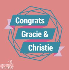 Congrats on winning a Mommy's Bliss Prize Pack!