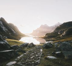 Hiking to Bunes Beach Lofoten Islands #stayandwander by alexstrohl