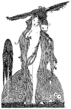 Donkey-Skin by Harry Clarke for Fairy Tales by Charles Perrault. 1922