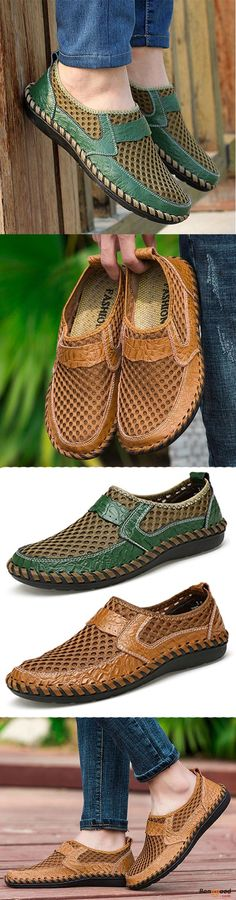 US$33.27 + Free shipping. Big Size Men Hand Stitching Breathable Honeycomb Mesh Loafers Flats. Men's shoes, casual shoes, slip-on flats, mesh loafers flats. Buy now!