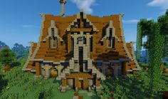 Medieval House Minecraft Project Minecraft Statues, Minecraft Room, Minecraft Plans, Minecraft Survival, Cool Minecraft Houses, Minecraft Tutorial, Minecraft Blueprints, Minecraft Crafts, Minecraft Buildings