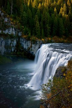 Upper Mesa Falls, Idaho @jerrolynn noble - this looks just like the picture u sent me a few days ago :)