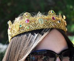 New Roman D&G Crown Headband Swarovski 24 k by Elviejewelrydreams