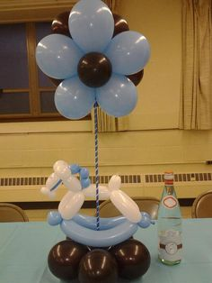 Boy Baby Shower  Table decor Use Pink & it can be for a GIRL TOO :-) my work can be found on facebook.com/BalloonCr8ive