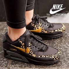 Gold leopard #Nike these won't make you run faders lol but its nice eye candy