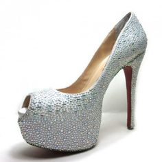 Christian Louboutin Daffodile 160 Peep Toe Pumps Aurora Boreale [CL0533] - $140.00 : Designershoes-shopping, World collection of Top Designer high heel UP TO 90% OFF!