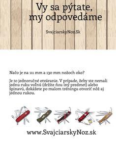 Prečo je na švajčiarskych nožoch diera? #svajciarsky_noz #Victorinox #vreckove_noze #vreckove_noze_Victorinox http://www.svajciarskynoz.sk/otazky/