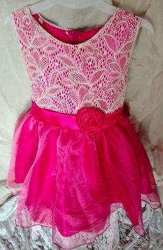 Vestido de fiesta para Nena flor encaje Glam girl  Puro Glam kids Dress