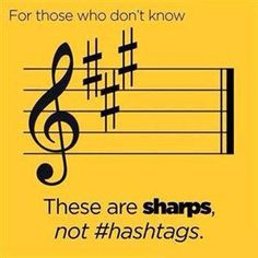 These are sharps, not #hastags