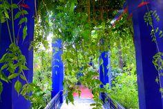 Yves Saint Laurent's glamourous Jardin Majorelle in Marrakesh, Morocco Exterior House Colors, Land Scape, Cosmos, Morocco, Fair Grounds, Marrakesh, Plants, Saint Laurent, Photography