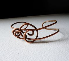 Copper wire bracelet cuff Eco Friendly by SimplyWireWrapped, $18.00