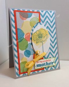 Stampin' Fun with Diana: Sketch Frenzy Friday Sketch Challenge: Happy Watercolor Mother's Day Greetings, Happy Watercolor, Big Shot, Framelits, Mother's Day, Card, Stampin' Up, Diana Eichfeld