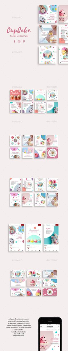 CupCake Social Media Pack - Social Media Web Elements