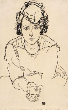 Egon Schiele – Seated Woman, 1918