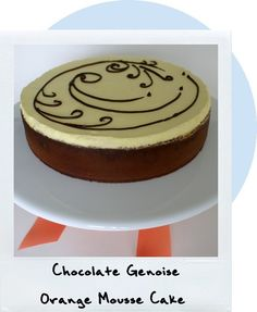 Chocolate Génoise Orange Mousse Cake  Source: Adapted from The Cake Bible by Rose Levy Beranbaum's Moist Chocolate Génoise.