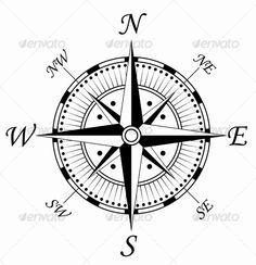 Men nautical compass tattoos ideas images
