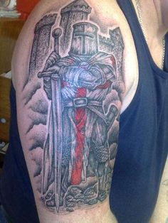 Medieval Knight Templar tattoo