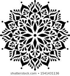 Portfólio de fotos e imagens stock de TAMSAM Stencils Mandala, Stencil Patterns, Stencil Designs, Mandala Tattoo Design, Mandala Drawing, Mandala Art, Stencil Printing, Stencil Art, Symmetry Design
