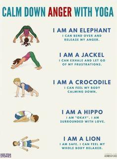 calm down yoga for kids printable posterpdf  yoga