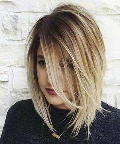 Short Bob Wigs for Women Sale Human Straight Blonde Hair(Color:Seven Colors) Layered Haircuts & Hairstyles Hair Styles 2016, Short Hair Styles, Hair Styles Medium Bob, Braid Styles, Medium Length Hair Cuts With Layers, Medium Layered, Medium Length Haircuts, Layered Lob, Layered Haircuts For Medium Hair With Bangs